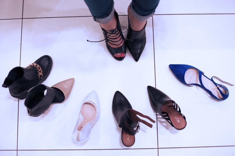scarpe con tacco shopping