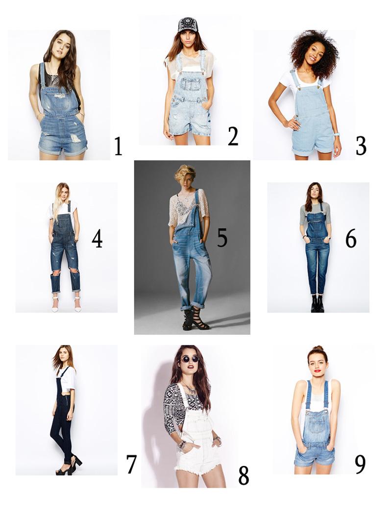 salopette jeans | outfit con salopette