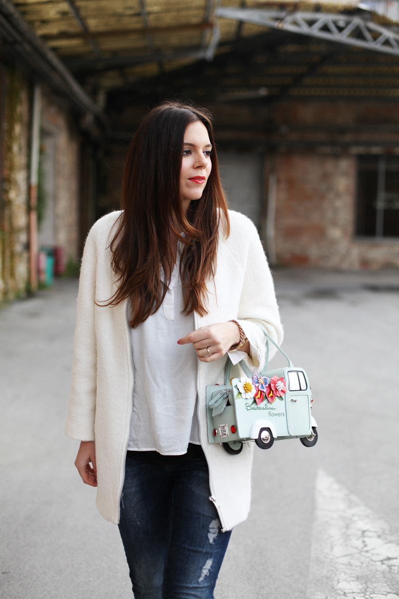giacca bianca | braccialini borse