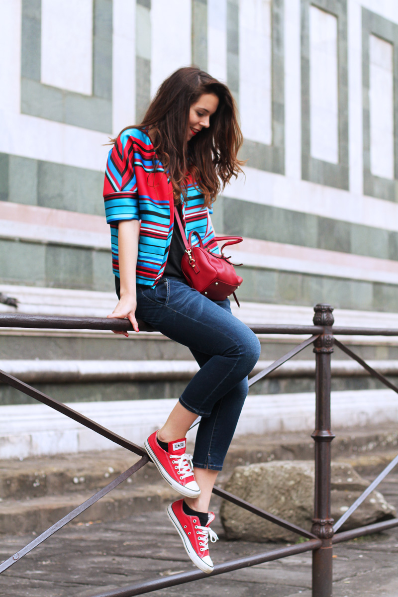 converse rosse | outfit a firenze