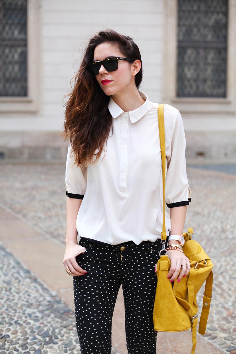 camicia bianca look