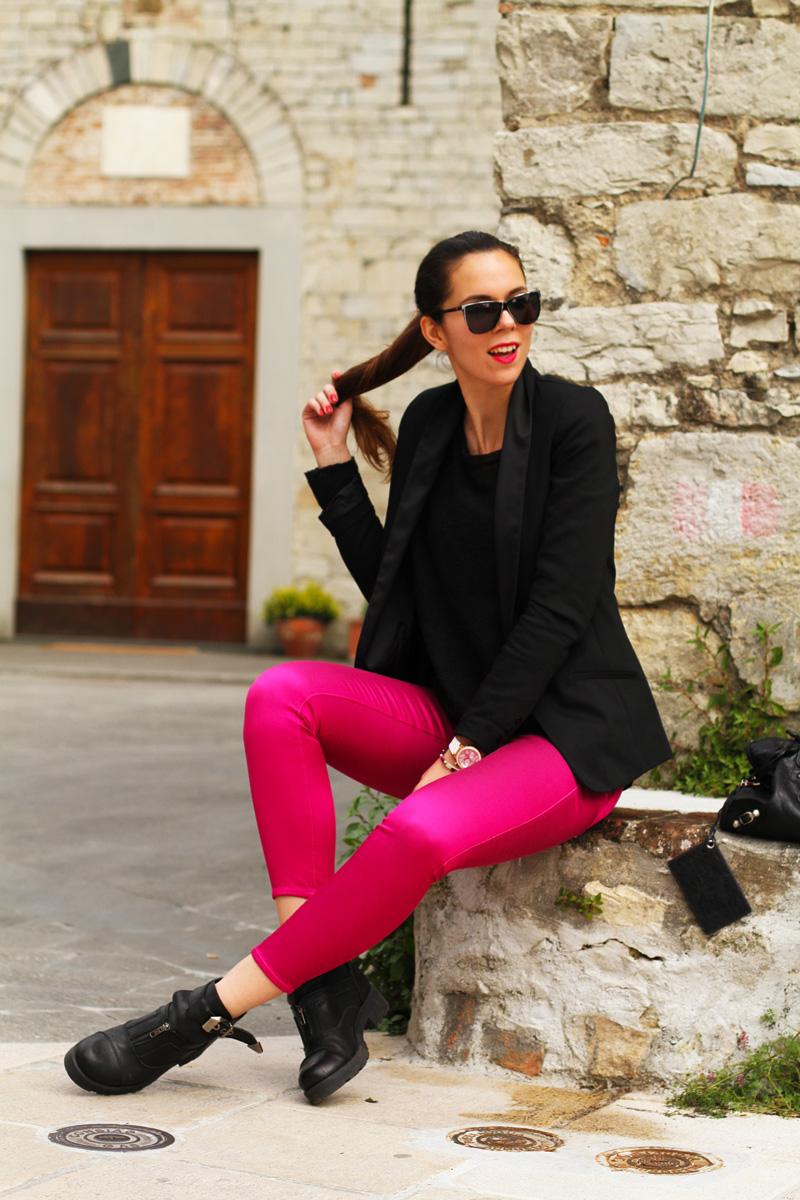 PANTALONI FUCSIA | outfit irene colzi
