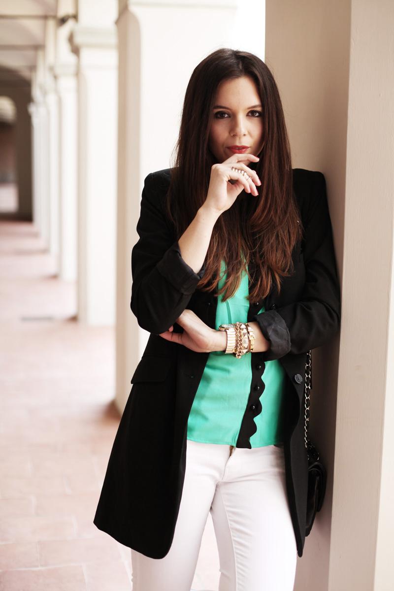 blazer nero donna   look primavera 2014