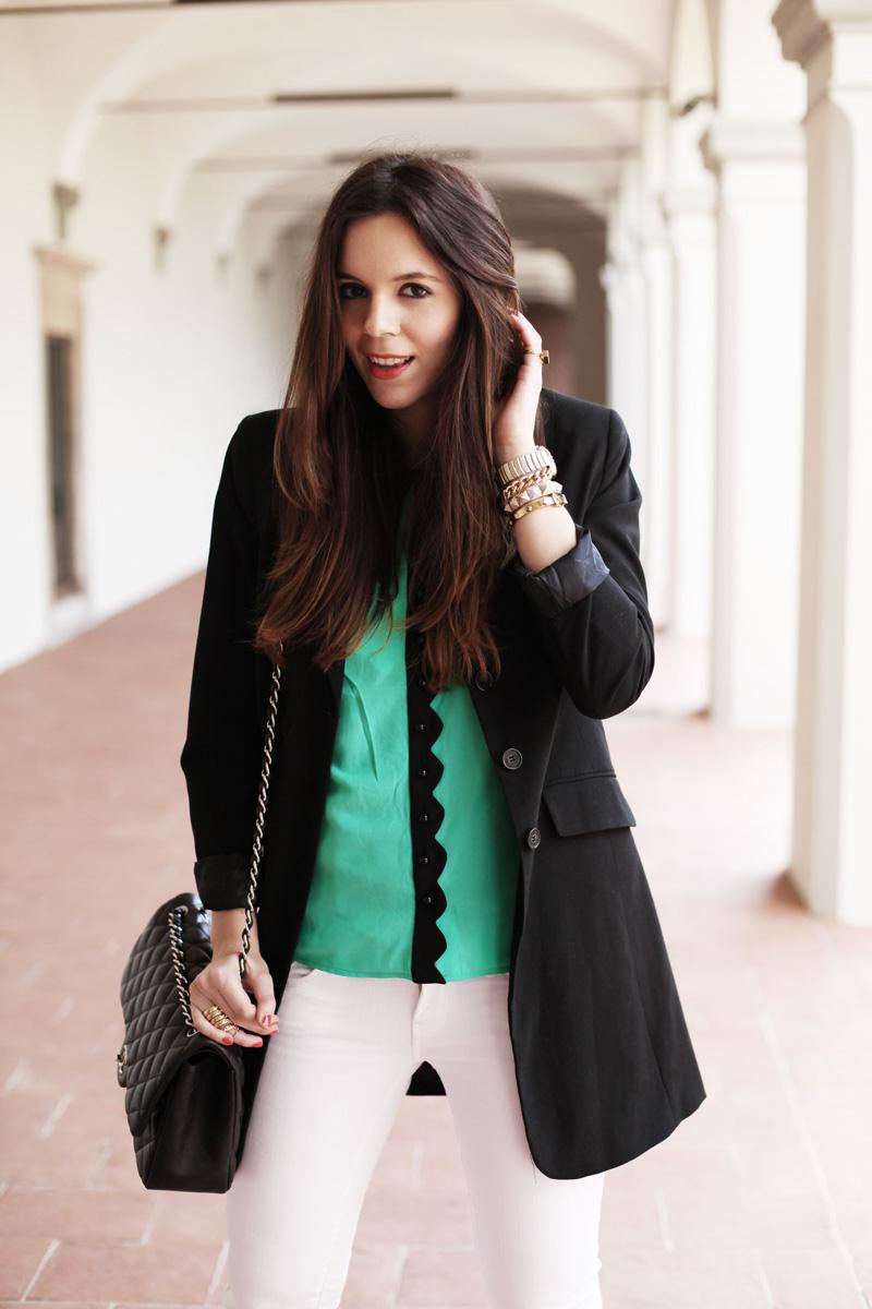 camicia baleeblu | blazer nero donna