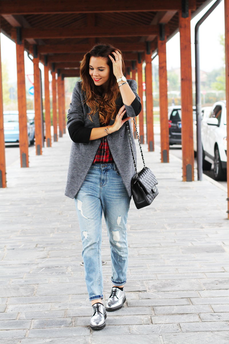 jeans boyfriend   fashion blogger look