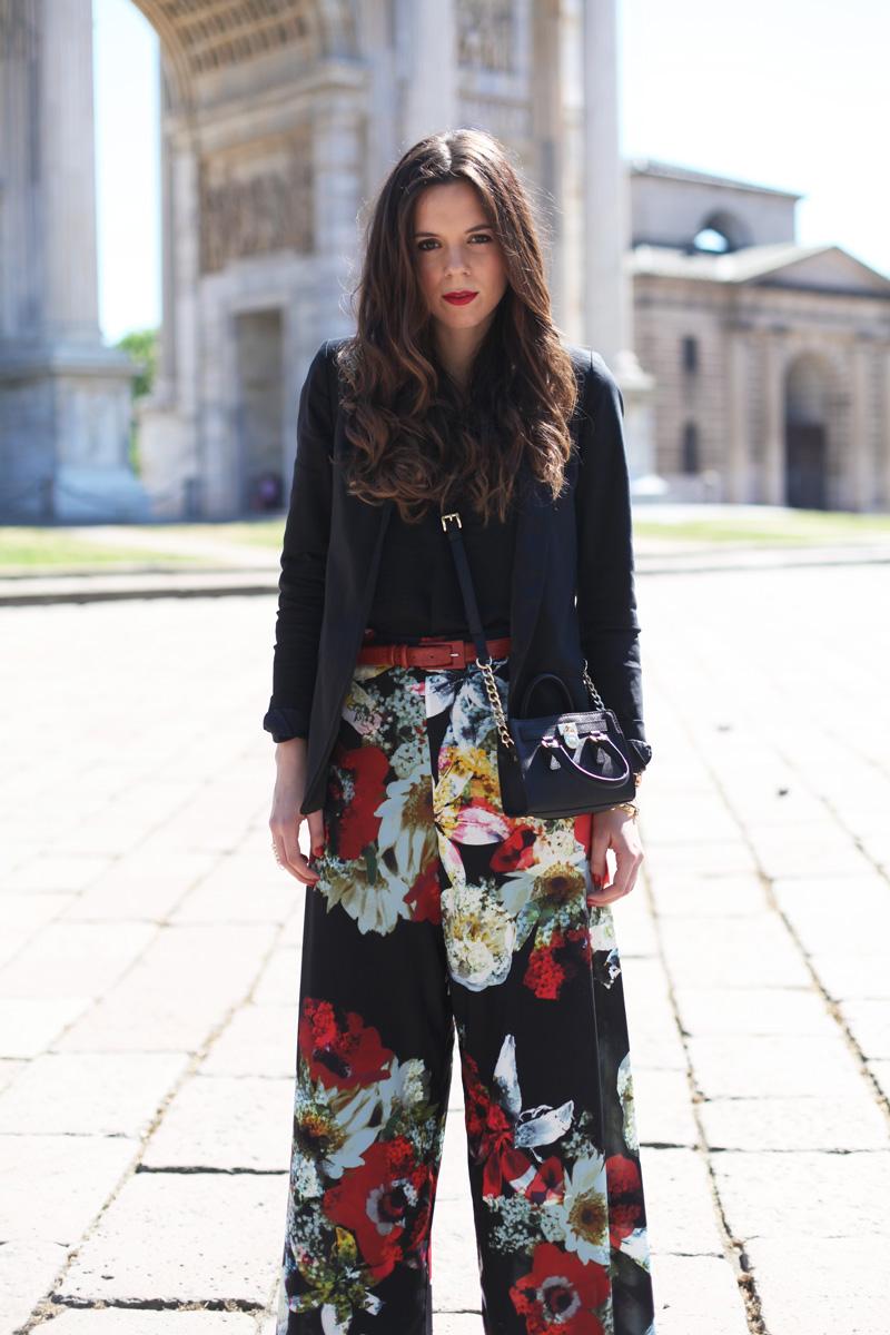 pantaloni floreali | pantaloni palazzo