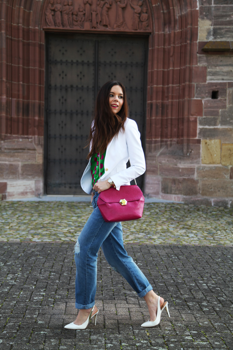 decollete bianche   jeans donna