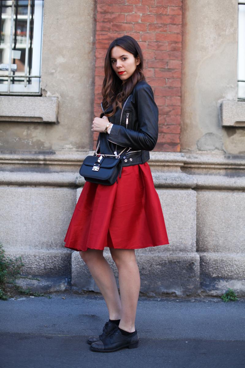 best website 96536 8347e Gonna anni 50 rosso fuoco e la mia nuova Valentino