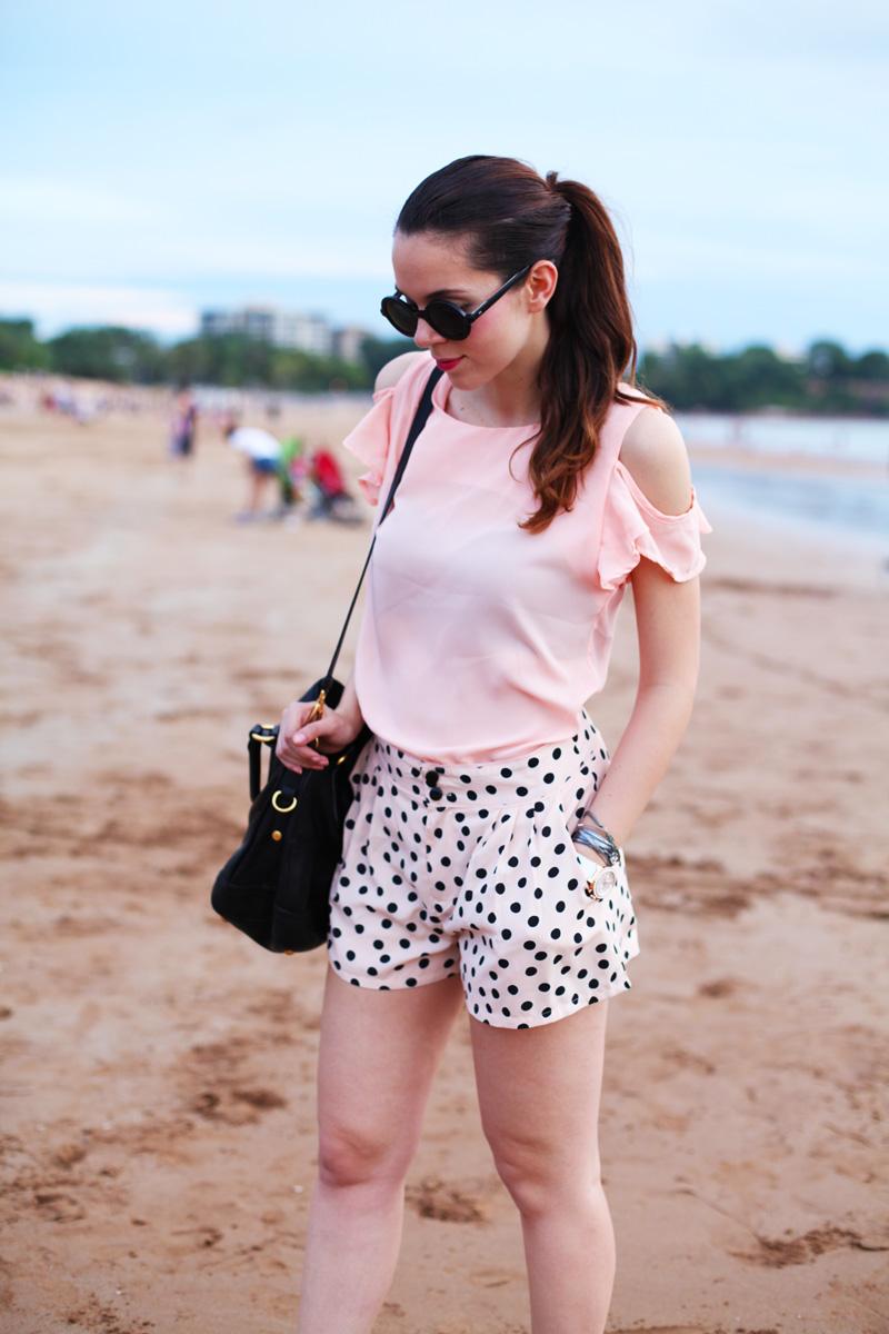camicia rosa | pantaloni pois