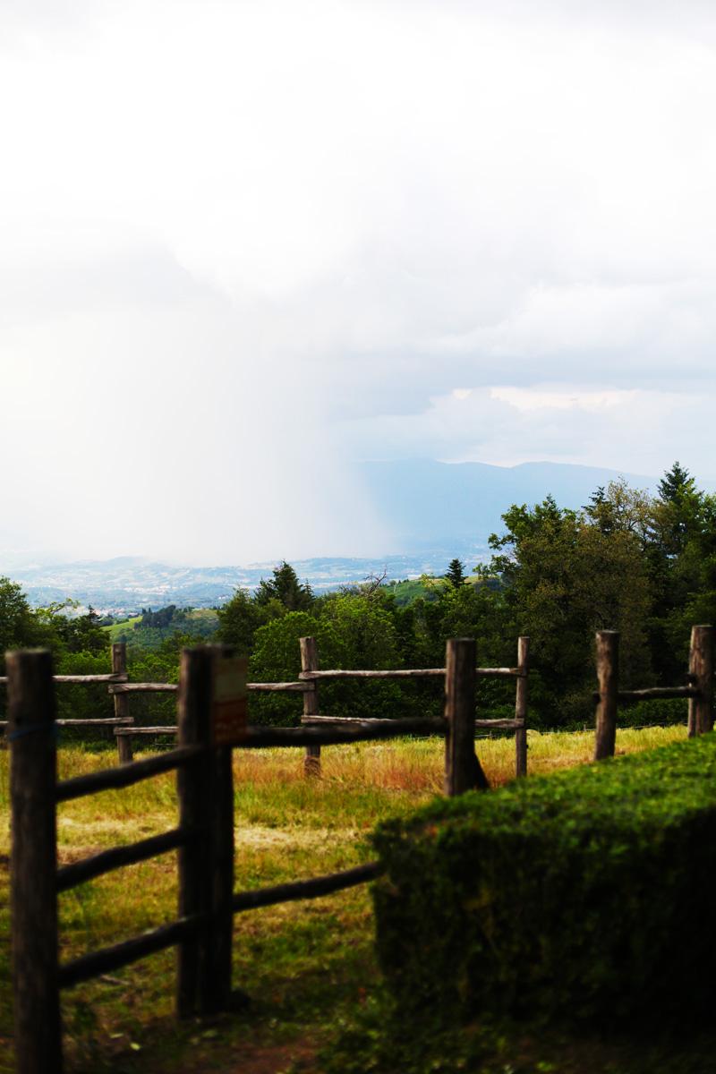 temporale in campagna