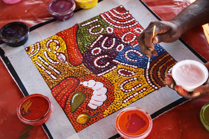 Ayers rock uluru alla scoperta del simbolo dell 39 australia for Arte aborigena