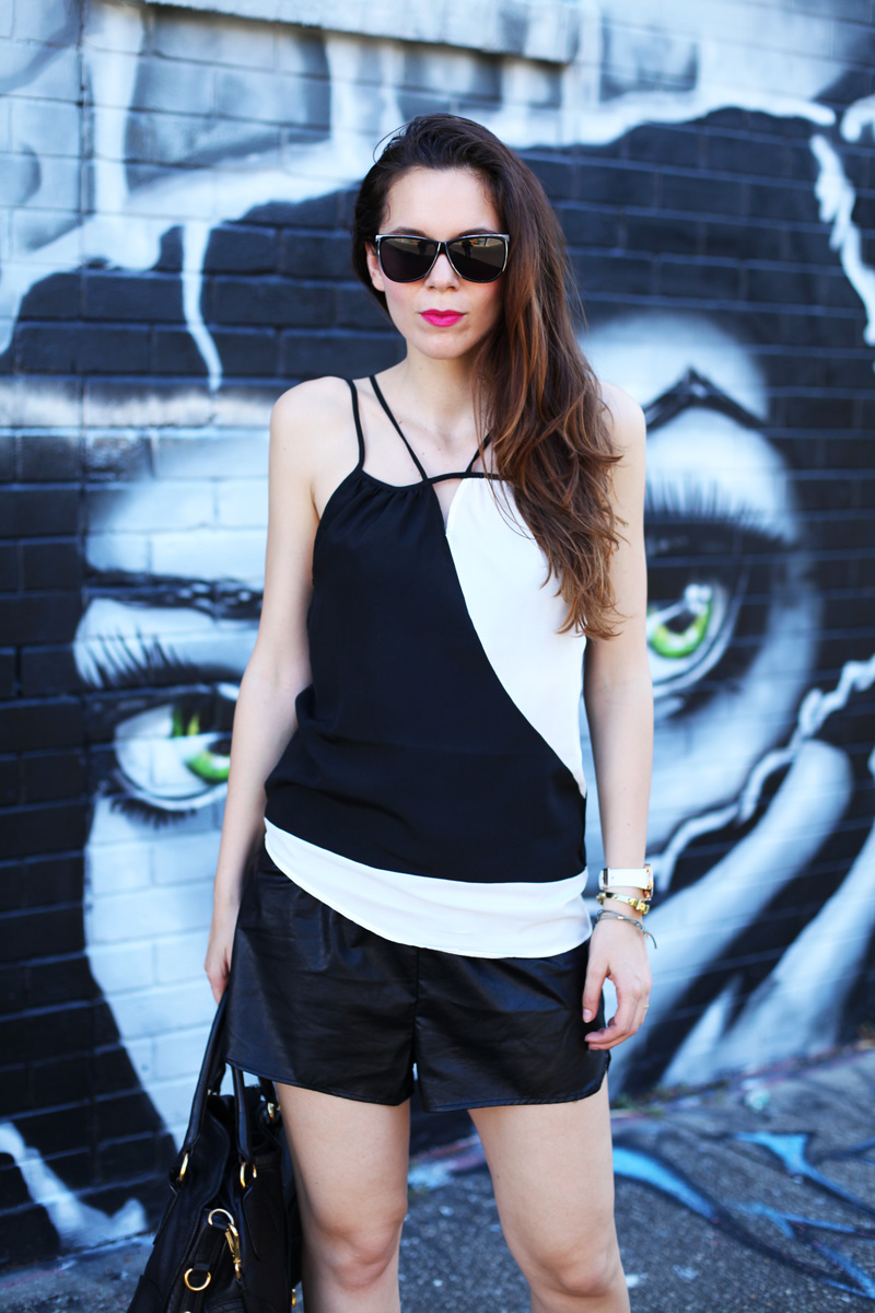 casual look bianco nero