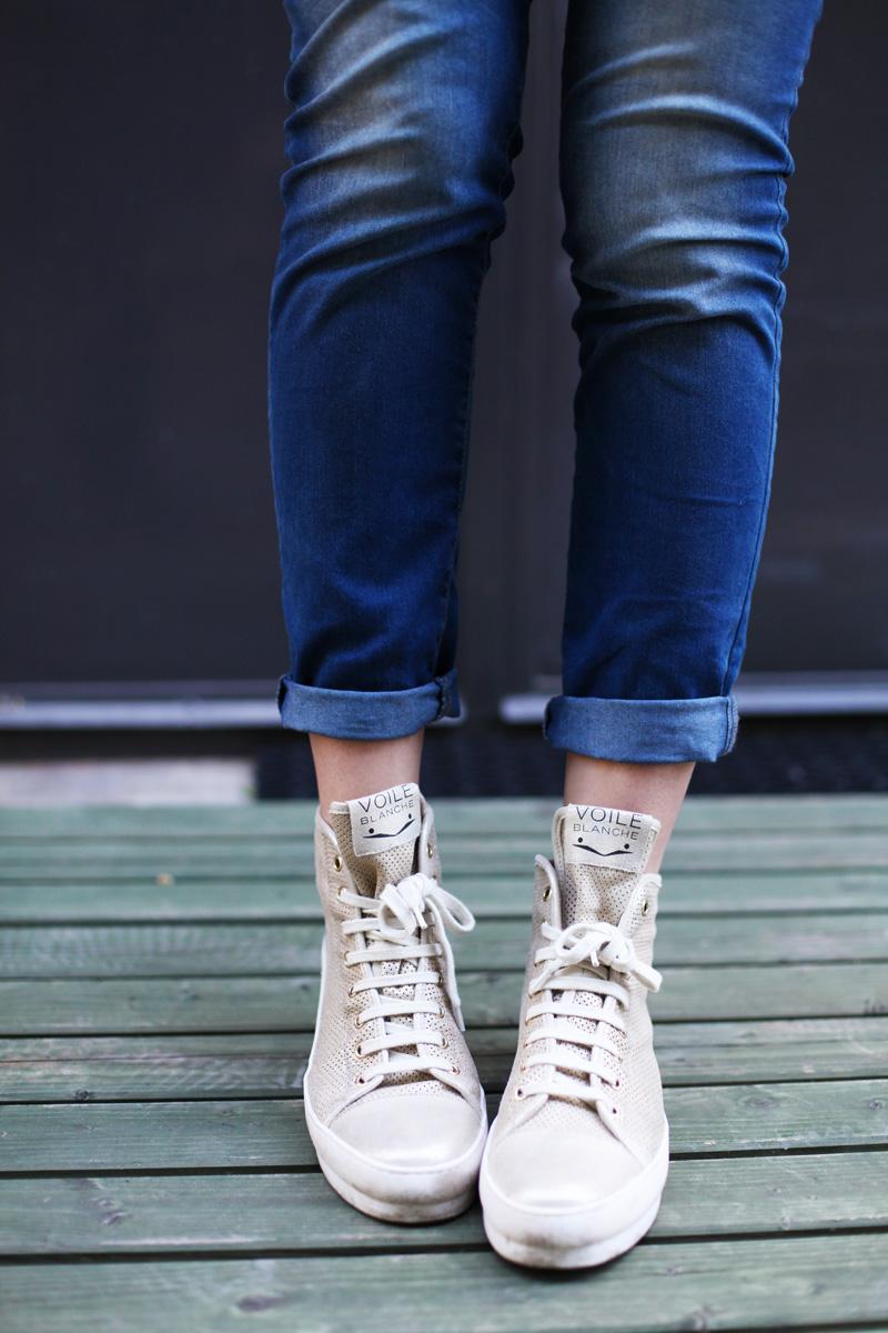scarpe voile blanche