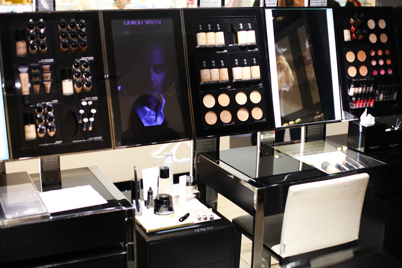 giorgio armani make up rinascente