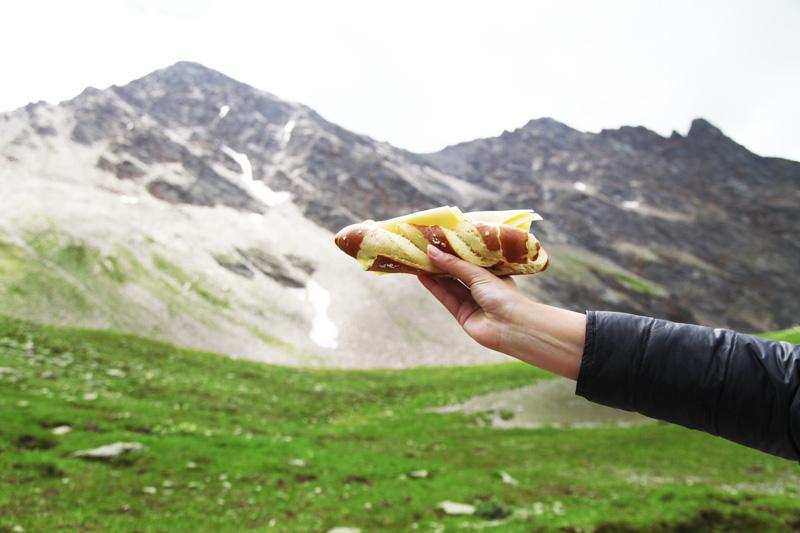cibo in montagna
