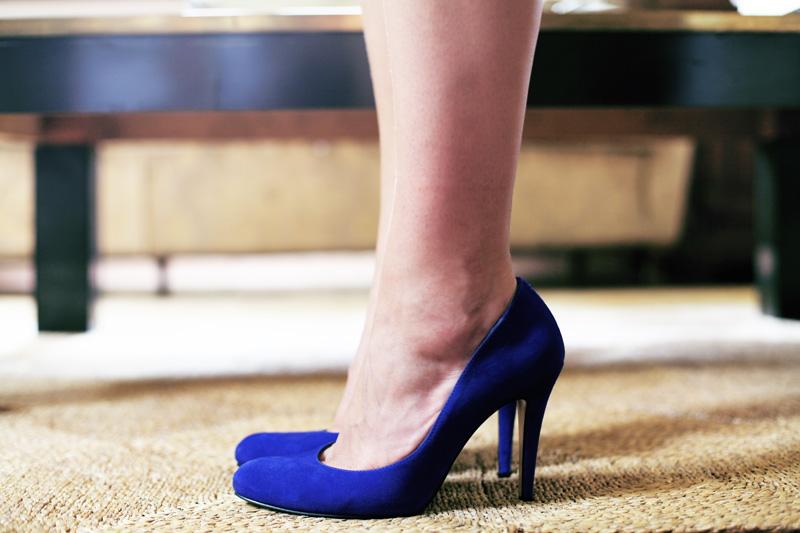 scarpe blu