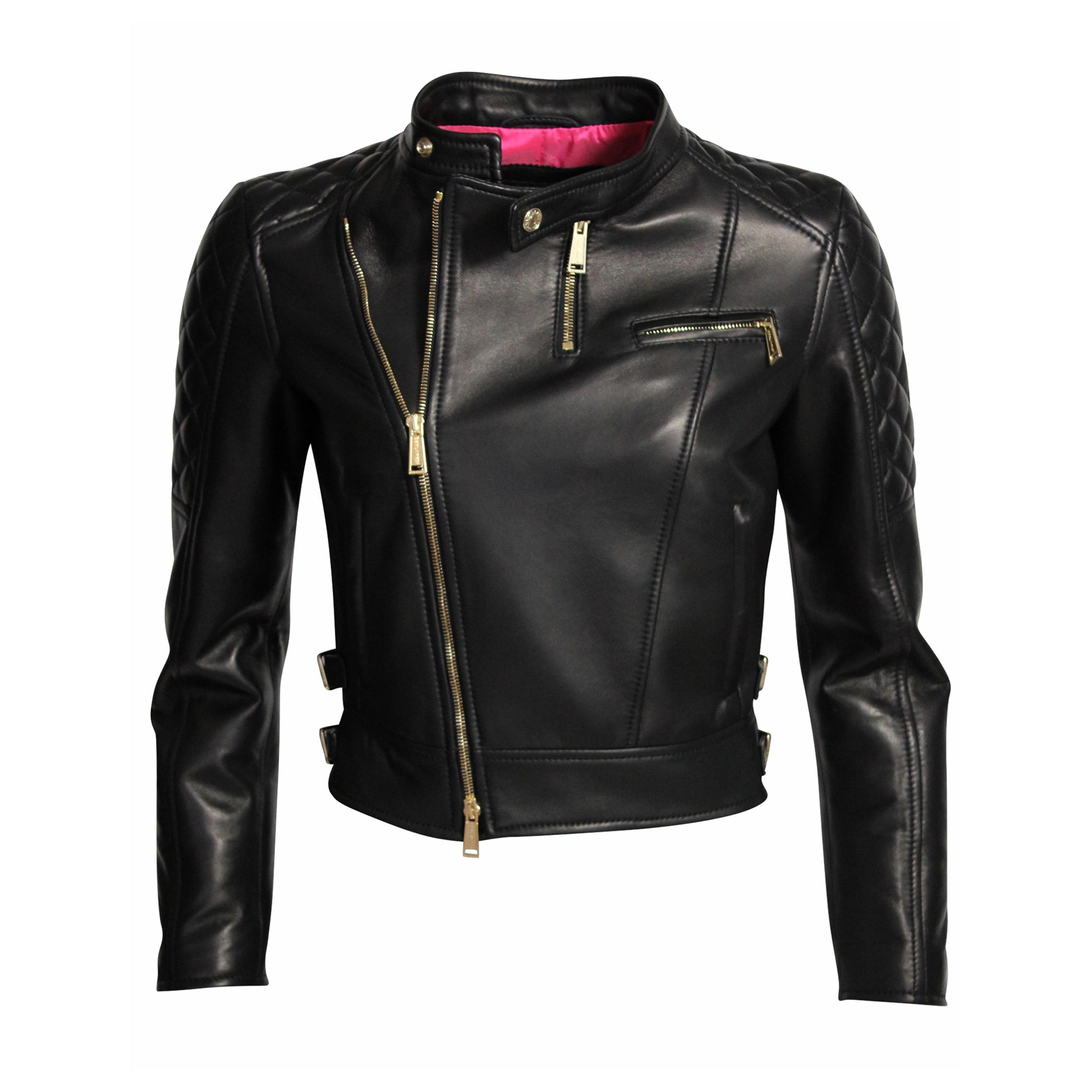giacca di pelle nera