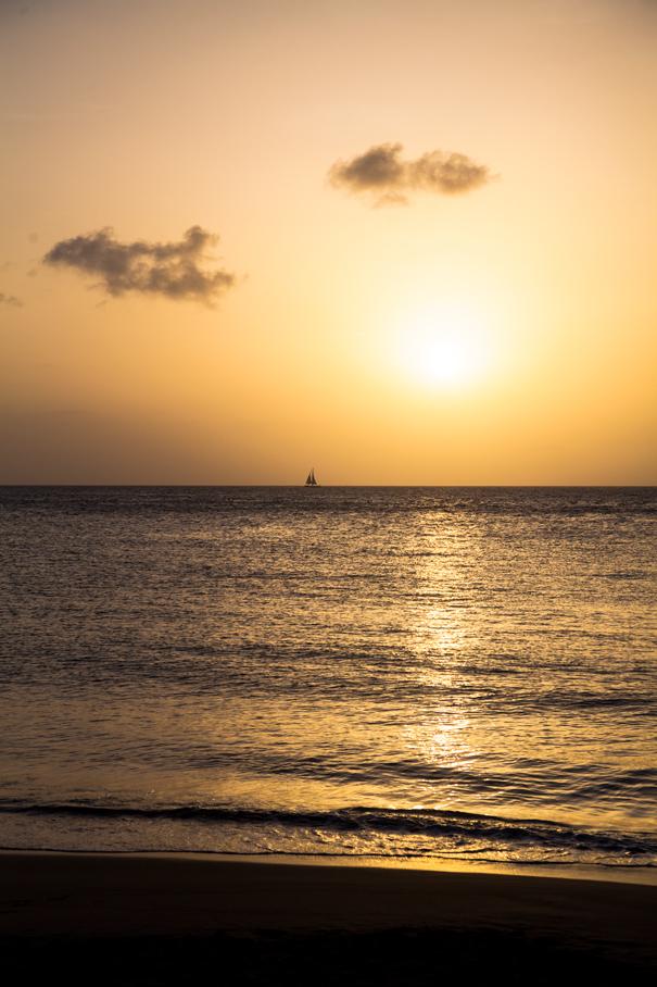sunset guadeloupe