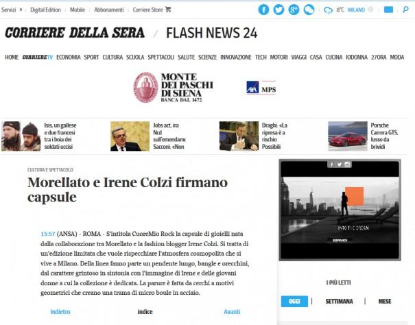 corriere-della-sera-Morellato-irenes-closet