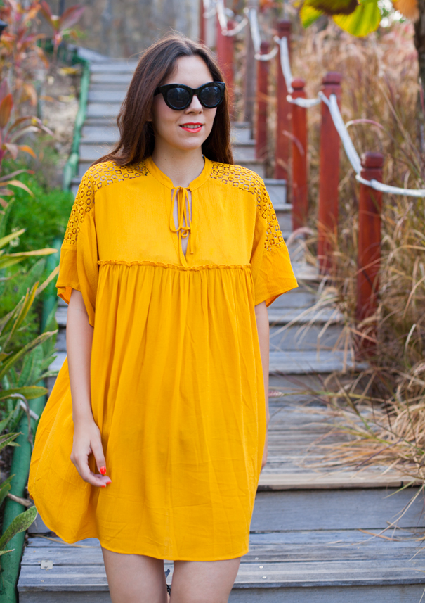vestito arancione