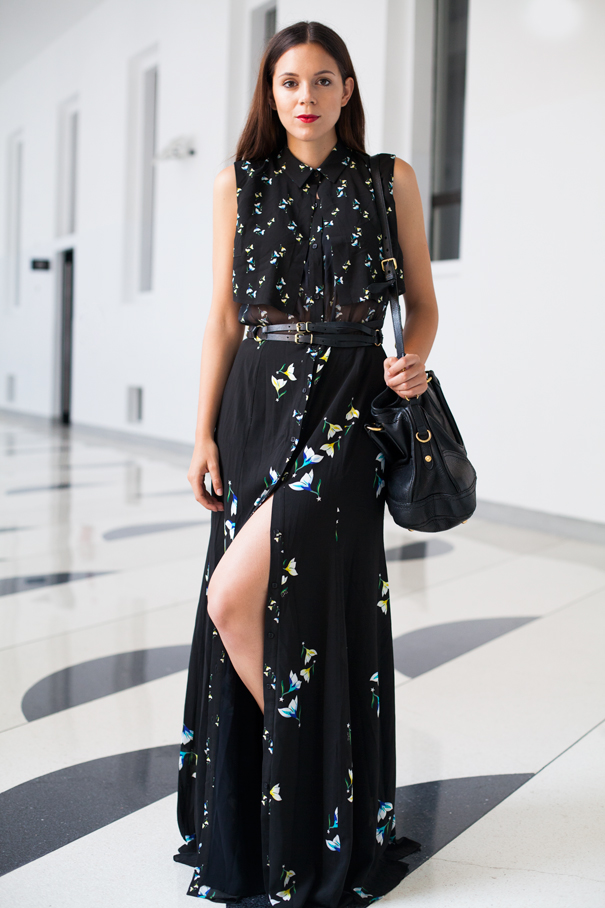 outfit vestito lungo estivo