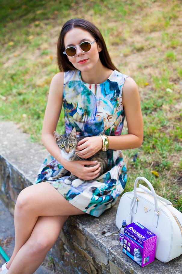 outfit vestito colorato