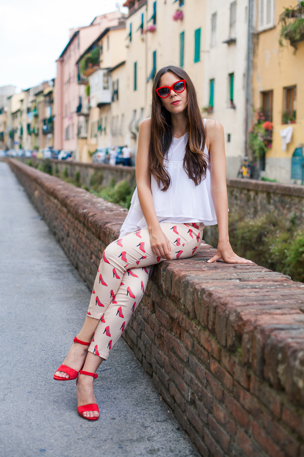 casual look rosso
