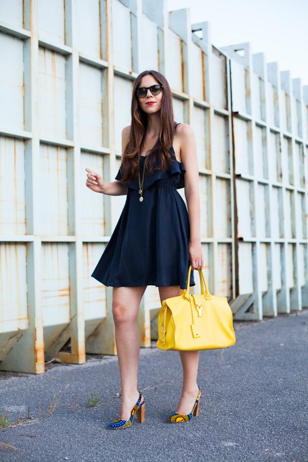 look con vestito nero