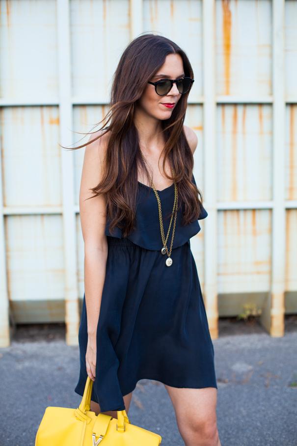 outfit vestito nero