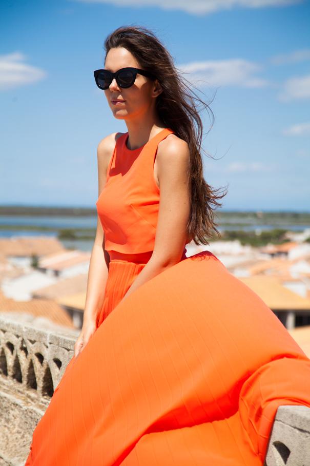 look Vestito arancione