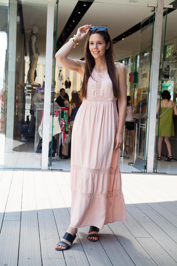 vestito rosa irene colzi