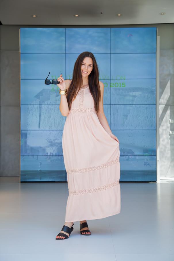 vestito rosa look
