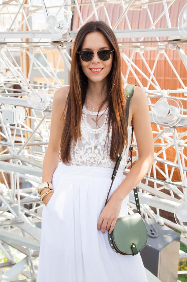vestito bianco outfit