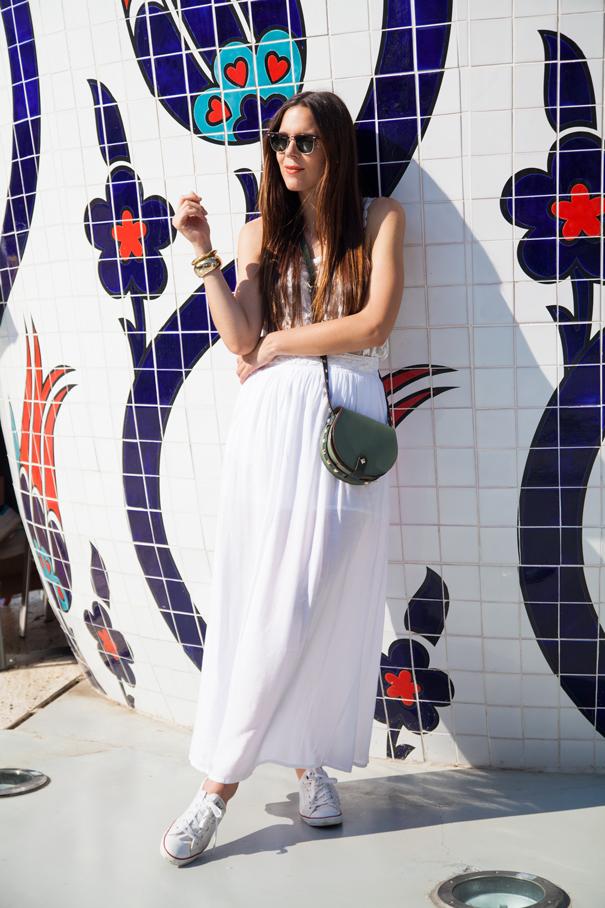 look vestito bianco