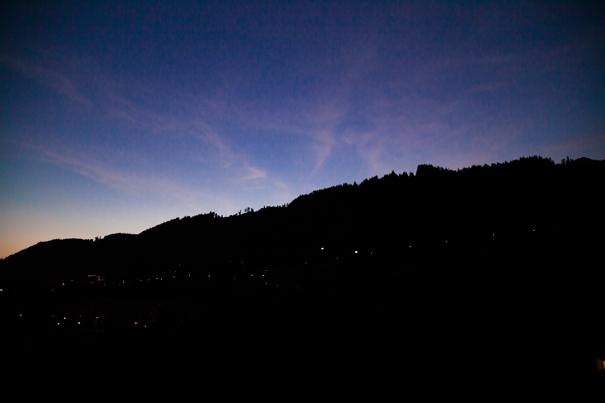 notte montagna