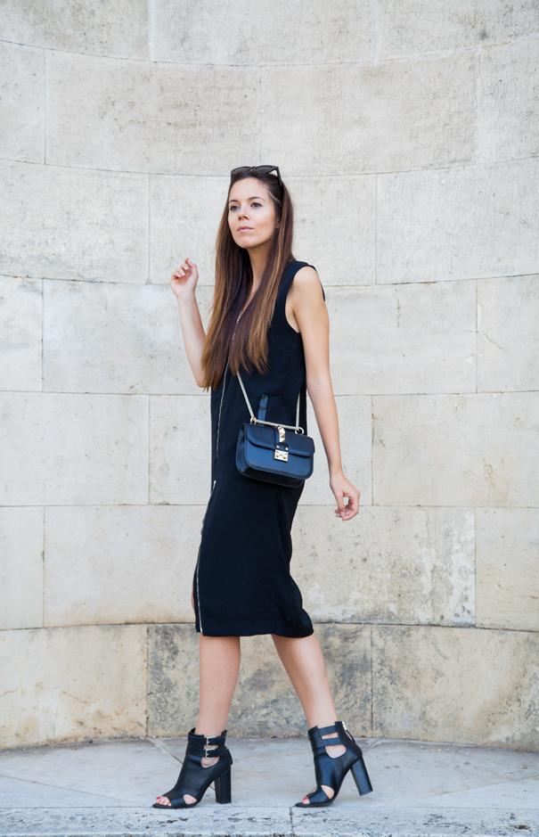 look vestito casual nero