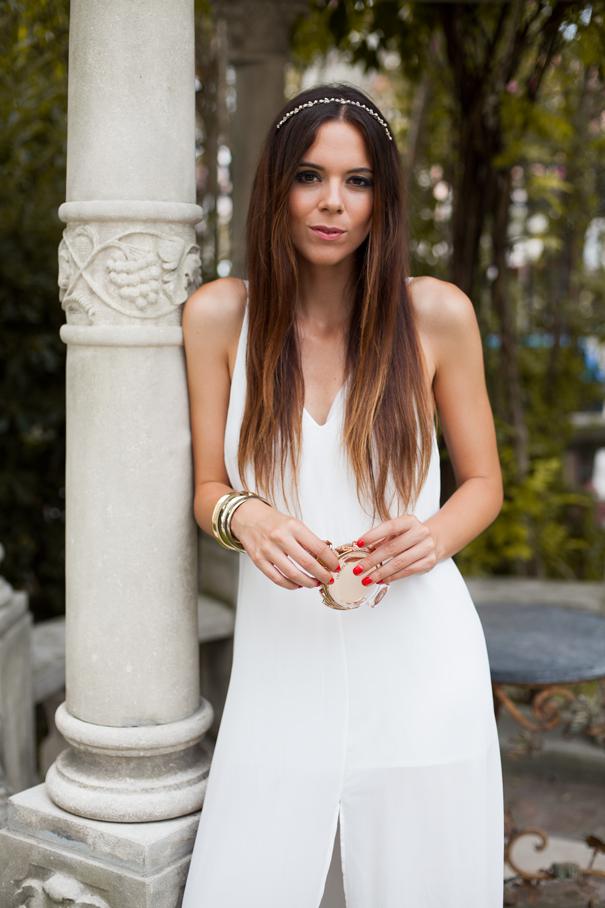 vestito bianco look