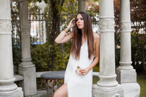 vestito bianco lungo