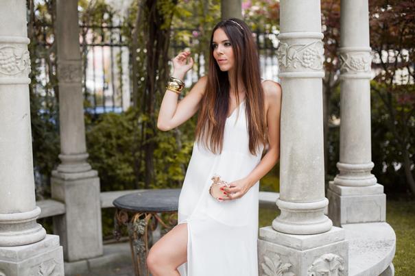 look vestito bianco lungo