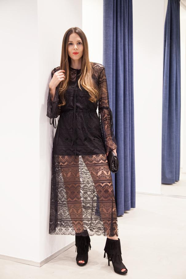 vestito nero ovs look