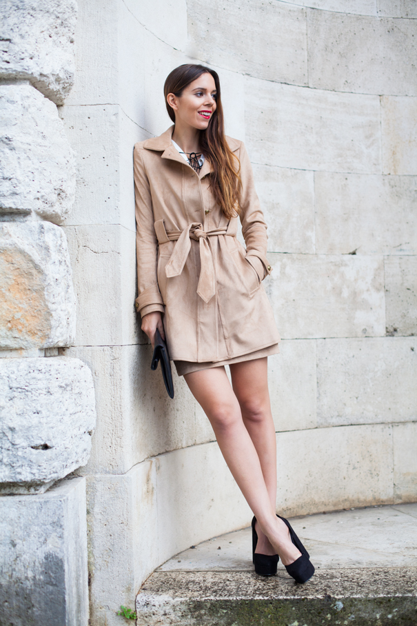 outfit suede