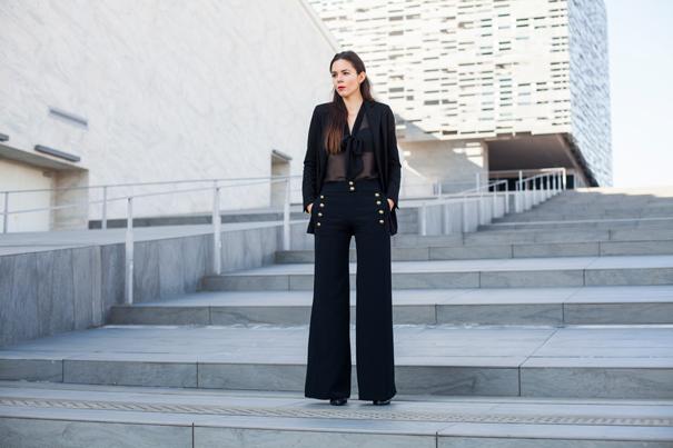 pantaloni palazzo outfit