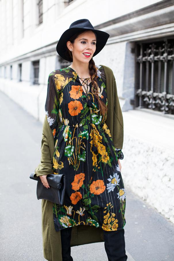vestito a fiori outfit