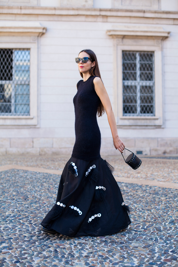 mauro gasperi vestito lungo nero (3)