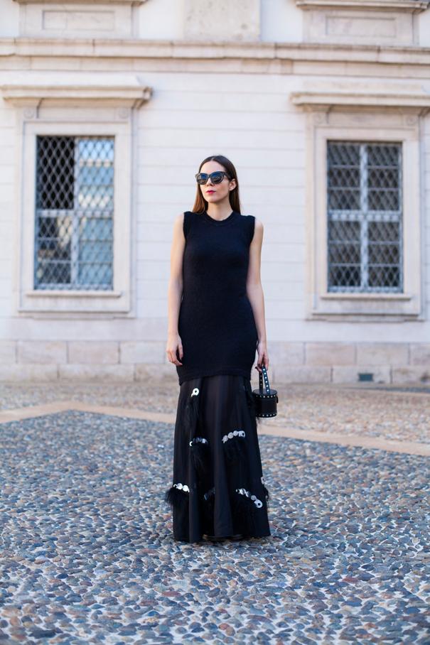 mauro gasperi vestito lungo nero (4)