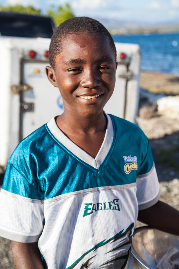 ritratto bambino haitiano
