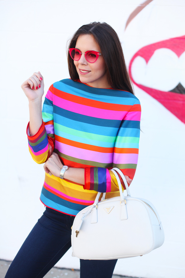 Striped jumper - look 1
