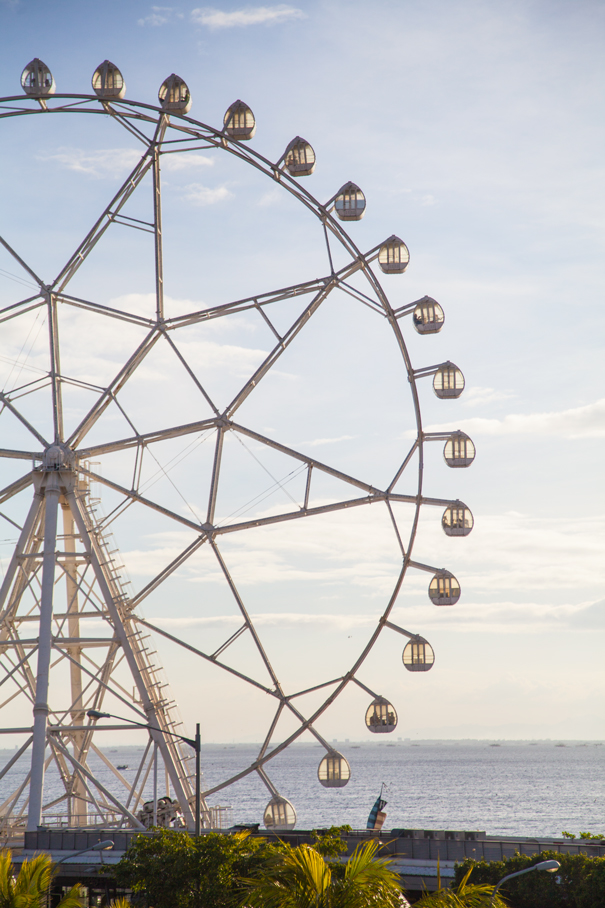 Ferris wheel in manila bay