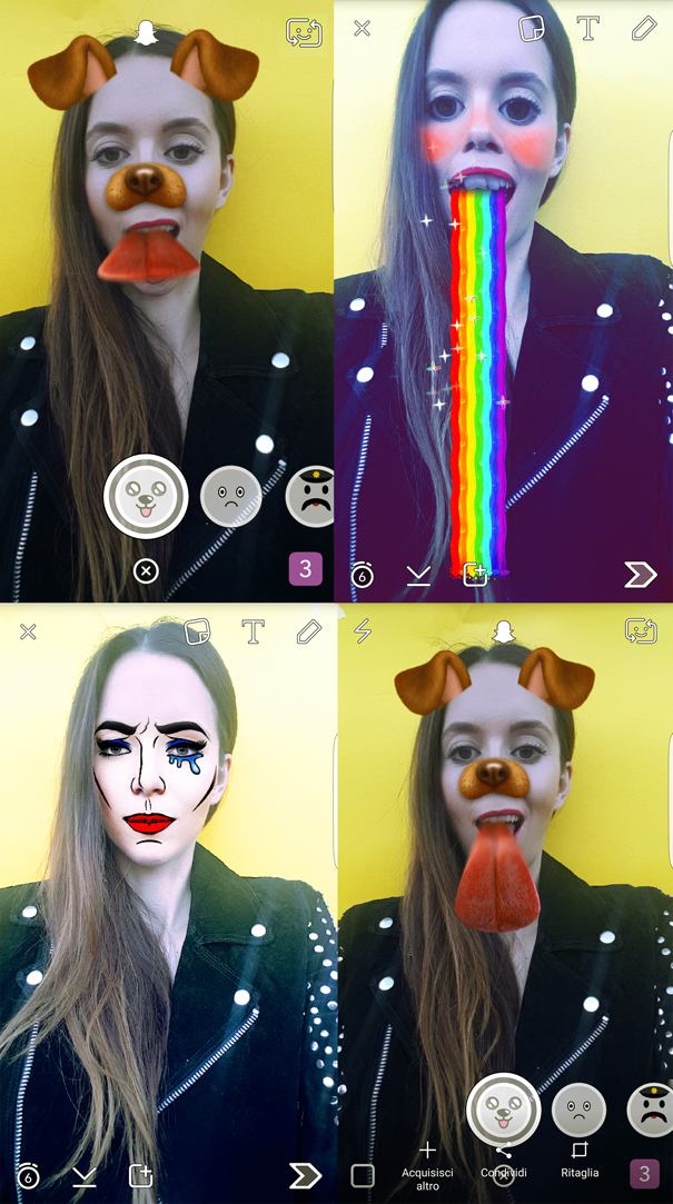 filtri snapchat