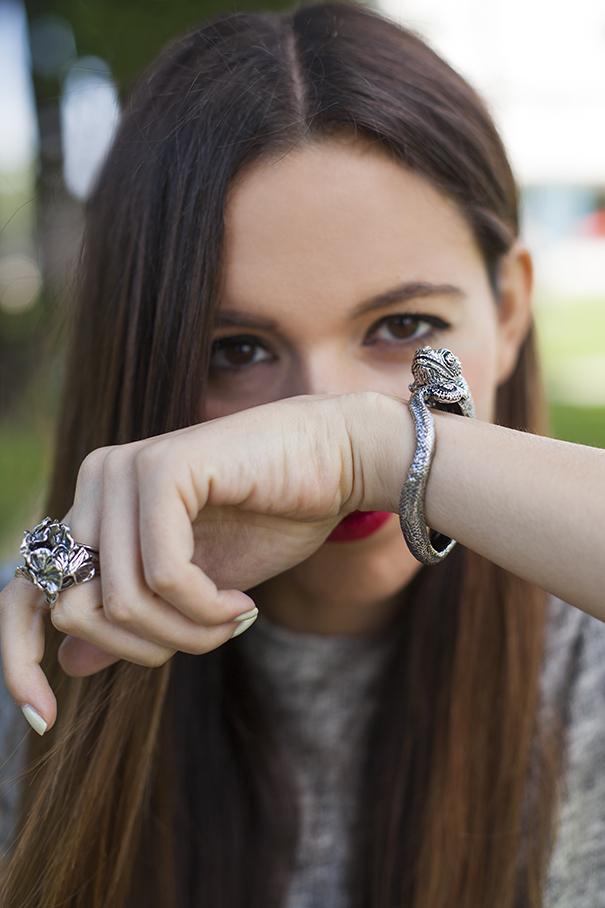 bracciale a forma di camaleonte | bracciale a forma di animale